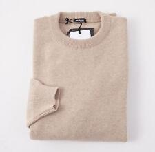 NWT $2195 KITON Oatmeal Beige 100% Cashmere Sweater 3XL (Eu 58) Crewneck
