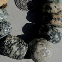 17 old antique granite gneiss african stone beads dogon mali #4068