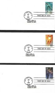 USA 1994 FIVE FIRST DAY COVERS, WINTER OLYMPICS