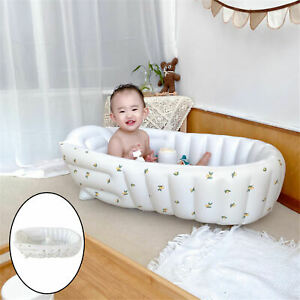 Inflatable Bathtub Smooth Collapsible Blowing Cushion for Bathroom Kids Baby
