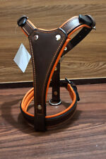 More details for leather puppy small dog harness fully padded , stainless steel fittings