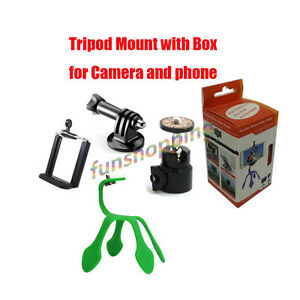 Universal Flexible Tripod Stand Mount Wrapped for i Phone GoPro Camera Holder