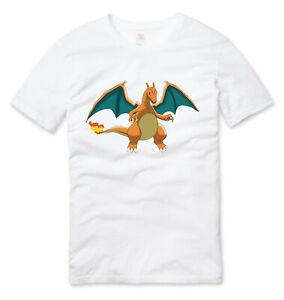 Kids Pokemon Charizard T Shirt White