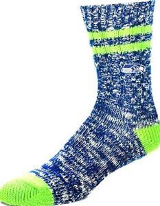 Seattle Seahawks   Men's   Alpine Socks Crew Socks Large Lg Size 10-13  WARM