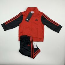 BABY BOYS: Adidas Tricot Jacket & Pants Set, Red - 12 Months AG6103