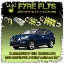 White LED interior lights package kit for 2013-15 Santa Fe 9 pcs 3014 series SMD