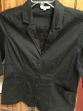 EILEEN FISHER Ladies Blazer Sport Jacket SMALL S Black Coat Womans