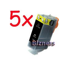 5 BLACK INK FOR CANON BCI-3eBK CANON i865 CANON PIXMA IP4000 IP5000 MP760 MP780