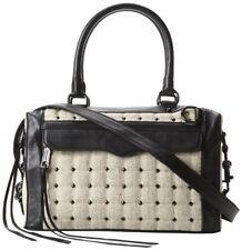 NWT Rebecca Minkoff MAB Mini Studded Linen Shoulder Bag