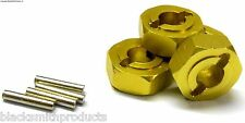 L180 1/8 Scale Buggy M14 14mm Drive Hex Hub Wheel Adapter Alloy Yellow x 4 8mm