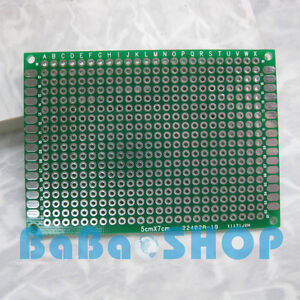 5pcs DIY Double Side Prototype PCB Tinned Universal Board 50mm x 70mm 5x7 FR4