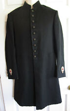 VINTAGE BLACK Wool Frock Coat M C LILLEY CO KNIGHTS TEMPLAR MASONIC Men's XXS