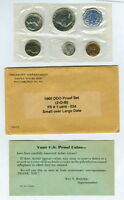 1960 DDO PROOF SET WITH SMALL OVER LARGE DATE LINCOLN CENT GEM ORIGINAL