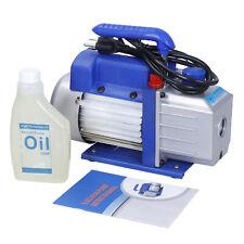 1 Stage 4 CFM 1/3HP Rotary Vane Deep Vacuum Pump HVAC AC Air tool Kit R134 R410a