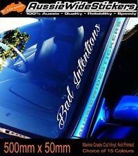 BAD INTENTIONS Car Windscreen Sticker Decal Jdm Drift Bomb Ute 500mm