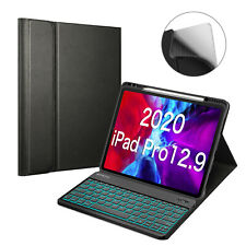 "for iPad Pro 12.9"" 4th Gen 2020 & 3rd Gen 2018 Keyboard Case 7 Color Backlight"