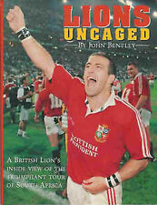 """LIONS UNCAGED"" by JOHN BENTLEY BRITISH LIONS TOUR 1997 RUGBY BOOK"