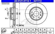 ATE Juego de 2 discos freno Antes 277mm ventilado para LAND ROVER 24.0121-0114.1