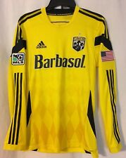 Columbus Crew SC Authentic Long Sleeve adidas Jersey Small LH + Flag Patch