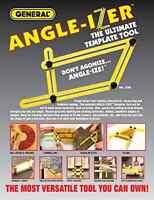 1 Pc Angle-Izer Ultimate Tile & Flooring Template Tool Multi-Angle Ruler