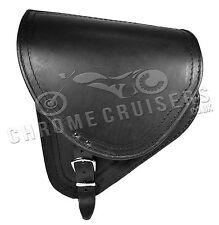 Softail Harley Davidson Schwarz Leder Schwinge Satteltasche Einzeln Seiten