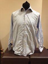 "John Lewis Blue / White Striped Long Sleeved Casual Shirt  15.5""  (P0218)"