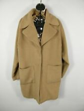 WOMENS MISSGUIDED CAMEL LONG WINTER CAPE STYLE OVERCOAT REVERE COLLAR SIZE 8