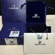 Swarovski ICONIC SWAN Graduate Blue Color swan pendant Necklace jewelry