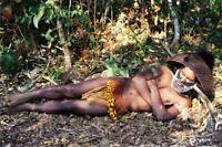 RARE Huli Wigman Tribe PNG Woven Bamboo Bead SKIRT APRON Papua New Guinea