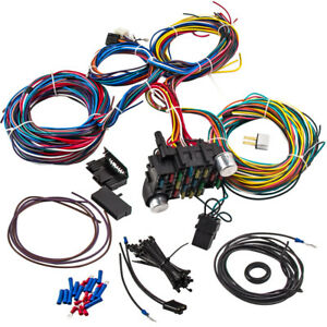 21 Circuit Wiring Kit Harness Hot rod 17 Fuses Circuit Breaker for Headlights