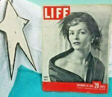 Vintage Life Magazine November 29 1948-Dinner Hats-Snake Pit-Mob +Great Ads!