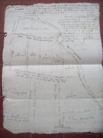 1835 MAPPA CATASTALE DELLA ZONA DI BIELLA NEI PRESSI DI TOLLEGNO