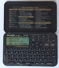 Vintage Sharp ZQ-1200 Electronic Organizer 34kb Working New Batteries