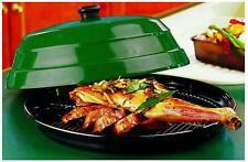 Bbqp04 41cm Dia 19cm H BBQ Jumbo SupaServa Hot Food Platter Green W Vitreous En