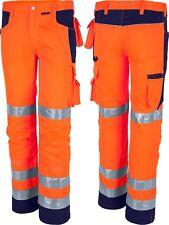 QUALITEX pro Mg245 Warnschutzbundhose Warnhose Arbeitshose Signalhose