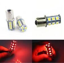 2X Rosso 1156 BA15S S25 18-SMD LED Lampadina TURN SIGNAL Backup Reverse Luce
