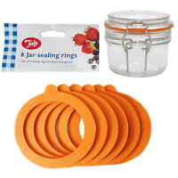 6 O Ring Sealing Rings Rubber Classic Clip Storage Container Spill Proof Tala