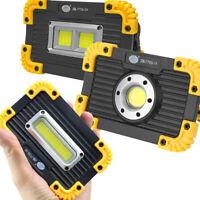 350W Emergency Flood Lamp COB LED Work Light Floodlight USB Rechargeable 18650