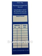 Ladder Inspection Tag - Equipment Inspection Record -Insert CTI LADDER TAGS