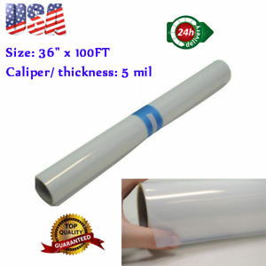 "36"" x 100FT Waterproof Inkjet Milky Transparency Film Silk Screen Printing 2Roll"