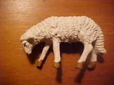 vintage nativity mini miniature chalk sheep wooly look