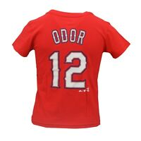 Texas Rangers MLB Majestic Youth Kids Size Rougned Odor T-Shirt New with Tags