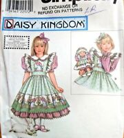 "DAISY KINGDOM Pattern 8553 OOP Dress Pinafore 13"" Doll Dress 2 3 4 NEW"