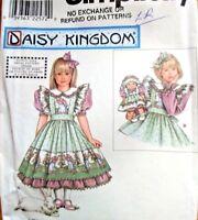 """DAISY KINGDOM Pattern 8553 OOP Dress Pinafore 13"""" Doll Dress 2 3 4 NEW"""