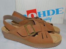 New Womens Size 35 Caramel Rohde Germany Softana-40 Nubuck Leather Wedge Sandals