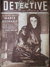Détective n°296 (3 mars 1952) Marie Besnard - Charles Humez - Près d'Espalion