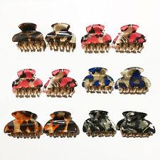 12x piccola per capelli di Gancio Acrilico Capelli parentesi Fermagli-Set Multicolore 8150