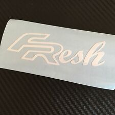 WHITE FResh Sticker Decal Seat FR Cupra