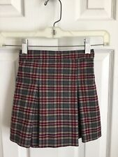 Becky Thatcher Challenger School Kick Pleated Plaid Uniform Skirt Size 4 Toddler