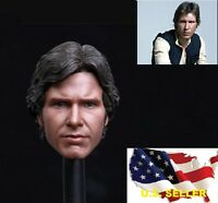 Custom 1/6 Scale Han Solo Harrison Ford Head Sculpt For Hot Toys phicen ❶USA❶